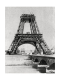 The Eiffel Tower under Construction, Paris, C1888 Giclee Print