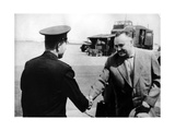 Russian Cosmonaut Yuri Gagarin and Rocket Engineer Sergey Korolyov, 1961 Giclee Print