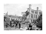 Aftermath of a German Bombing Raid, Merseyside, World War II, March 1941 Giclee Print