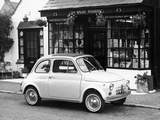 Fiat 500 Parked Outside a Quaint Shop, 1969 Lámina fotográfica