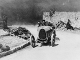 Louis Chiron Driving a Bugatti at the Castellane Hill Climb, Provence, France, 1925 Photographic Print
