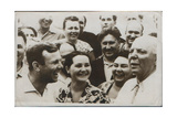 Russian Cosmonaut Yuri Gagarin with His Wife, 1962 Giclee Print