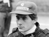 Ayrton Senna at the British Grand Prix, 1985 Photographic Print