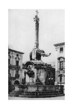 Piazza Del Duomo (Cathedral Squar), Catania, Sicily, Italy, C1923 Giclee Print