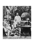 Queen Victoria and Family at Osborne House, Late 19th Century Giclee Print