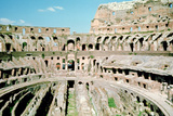 Inside the Colosseum, Rome, Italy Photographic Print