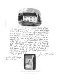 A Letter from Isaac Newton, and a View of His Birthplace at Woolsthorpe, Lincolnshire, 1682 Giclee Print by Sir Isaac Newton