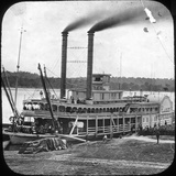 Northern Line Packet Company Paddle Steamer Lake Superior, USA, C1870S Photographic Print