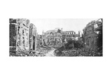 The Ruined Town and Church Bell Tower of Albert, Somme, France, August 1918 Giclee Print