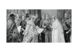 The Duke of York Placing the Ring on Lady Elizabeth Bowes-Lyon's Finger, 26 April 1923 Giclee Print