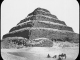 Stepped Pyramid of King Djoser, Saqqara, Egypt, C1890 Photographic Print by  Newton & Co
