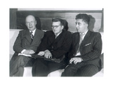 Sergei Prokofiev, Dmitri Shostakovich and Aram Khachaturian, Russian Composers, 1945 Giclee Print