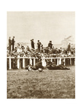 Emily Davison Throwing Herself in Front of the King's Horse During the Derby, Epsom, Surrey, 1913 Giclee Print