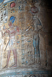 Goddess Isis with King Tuthmosis Iii, Ancient Egyptian, 15th Century Bc Photographic Print