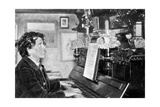 Maurice Rollinat, French Poet, Playing the Piano, 1902 Giclee Print