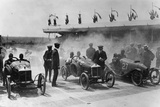 The Starting Line at the Grand Prix De L'Acf Des Cyclecars, Amiens, France, 1913 Photographic Print