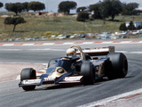 Jody Scheckter Racing a Wolf-Cosworth WR2, Spanish Grand Prix, Jarama, Spain, 1977 Fotografisk tryk