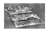 Aerial View of Ellis Island Immigration Station, New York, USA, 1926 Giclee Print