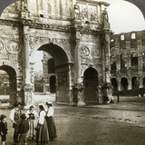 Arch of Constantine, Rome, Italy Photographic Print by  Underwood & Underwood