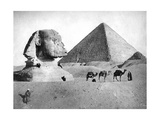 The Sphinx and Pyramid at Giza, Egypt, C1882 Giclee Print