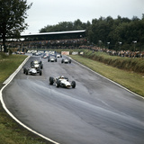 Jack Brabham Leading the Race, British Grand Prix, Brands Hatch, Kent, 1966 Photographic Print