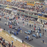 Cars Lining Up on the Starting Grid, French Grand Prix, Le Mans, France, 1967 Photographic Print