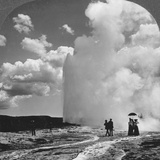 Old Faithful Geyser, Yellowstone National Park, USA, Early 19th Century Photographic Print by  Underwood & Underwood