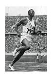 Jesse Owens at the End of the 100M at the Berlin Olympic Games, 1936 Giclee Print