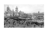 Cathedral and National Palace, Mexico City, Mexico, 1926 Giclee Print