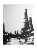 Oil Extraction in Baku, Russia, C1903-C1906 Giclee Print