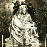 Pieta by Michelangelo, St Peter's Basilica, Rome, Italy Photographic Print
