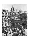 The Spire of St Martin, Ludgate Silhouetted Against the Bulk of St Paul's, London, 1926-1927 Giclee Print by  Frith