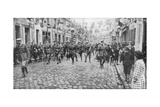 General Currie and Canadian Troops Walking Through a Liberated Town, 27 October 1918 Giclee Print