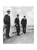 King George I of Greece with Commodore Keppel and Lord Howe, Corfu, Greece, 1908 Giclée-tryk