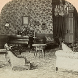 Drawing Room of the Presidency, Lord Roberts' Headquarters, Bloemfontein, South Africa, 1900 Photographic Print