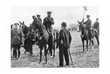 King George V at an Inspection of Troops at Aldershot, First World War, 1914-1918 Giclee Print