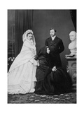 Queen Victoria with the Prince and Princess of Wales on the Day of their Marriage, 1863 Giclee Print