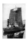 A Reed Balsa Sailing Vessel, Bolivia, 1922 Giclee Print