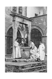 A Group of Monks at the Monastery of Monte Oliveto Maggiore, Italy, 1922 Giclee Print