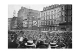 The German Army Marching Through Brussels, First World War, C1914 Giclee Print