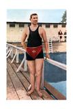 Emil Rausch, Geman Swimmer, Olympic Games, St Louis, USA, 1904 Giclee Print