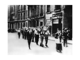 Funeral Procession of Members of the French Resistance, Paris, 1944 Giclee Print