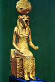 Seated Statuette of the Ancient Egyptian Goddess Sekhmet, 16th-13th Century Bc Fotografisk tryk