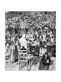 Pious Moslems Gathered at the 'Durbar of God, Mecca, Saudi Arabia, 1922 Giclee Print