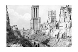 The Ruins and Cathedral of Caen, Normandy, France, C1944 Giclee Print