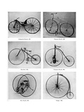 The Evolution of the Bicycle, 19th Century Giclee Print