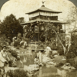 Japanese Garden at the World's Fair, St Louis, Missouri, USA, 1904 Photographic Print by  Underwood & Underwood