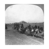 Japanese Military Transportation Train, Manchuria, 1906 Giclee Print