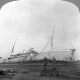 German Cruiser Sunk Off Dar Es Salaam, Tanzania, World War I, 1914-1918 Photographic Print
