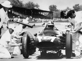 Jack Brabham's Cooper in the Pits, Indianapolis 500, Indiana, USA, 1961 Photographic Print